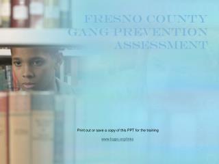 Fresno County Gang Prevention Assessment