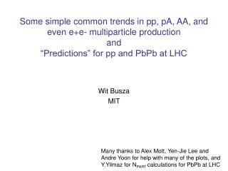 Wit Busza  MIT