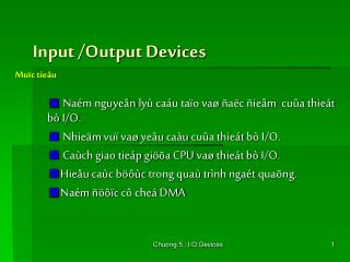 Input /Output Devices