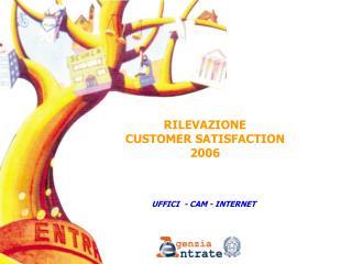 RILEVAZIONE CUSTOMER SATISFACTION  2006