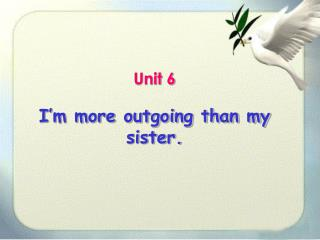Unit 6 I'm more outgoing than my sister.