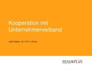 Kooperation mit Unternehmerverband Judith Gögele_ 29.11.2011 in Bozen