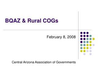 BQAZ & Rural COGs