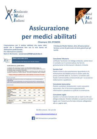 Assicurazione  per medici abilitati Chiamare 331.9728293