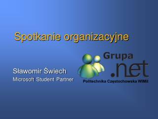Spotkanie organizacyjne