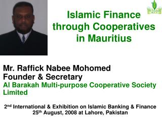 Islamic Finance through Cooperatives in Mauritius