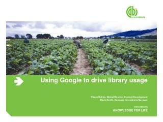 Using Google to drive library usage