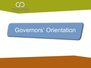 Governors' Orientation