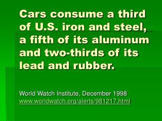 World Watch Institute, December 1998 worldwatch/alerts/981217.html