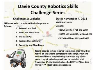 Davie County Robotics Skills Challenge Series