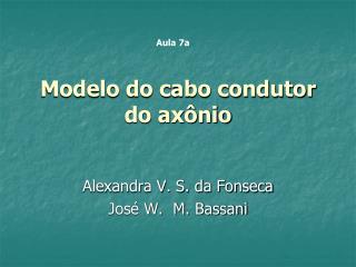 Modelo do cabo condutor do axônio