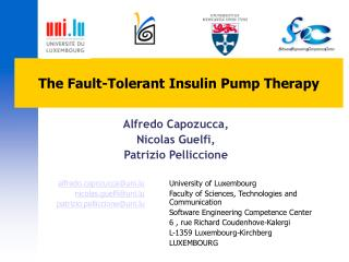 The Fault-Tolerant Insulin Pump Therapy