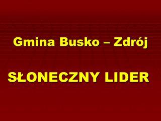 Gmina Busko – Zdrój
