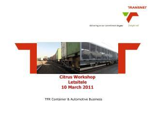 Citrus Workshop Letsitele 10 March 2011