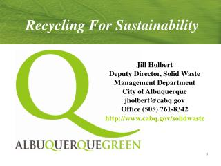 Recycling For Sustainability