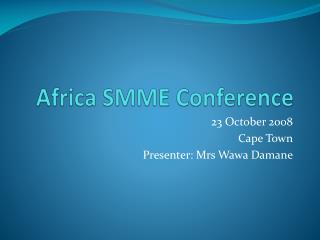 Africa SMME Conference