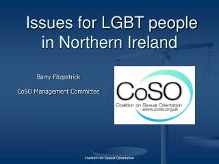 Issues for LGBT people in Northern Ireland