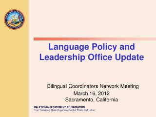 Title III Program and Funding Michele Anberg-Espinosa,  Bilingual/Migrant Education Consultant