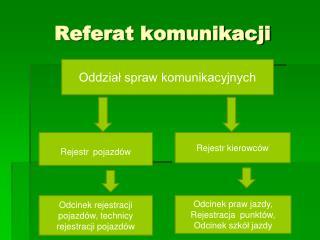 Referat komunikacji