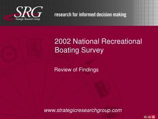 2002 National Recreational Boating Survey