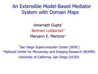 An Extensible Model-Based Mediator System with Domain Maps
