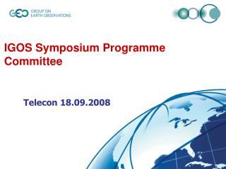 IGOS Symposium Programme Committee