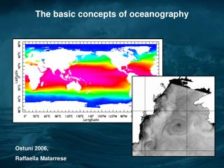 The basic concepts of oceanography