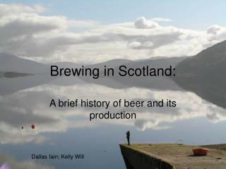 Brewing in Scotland: