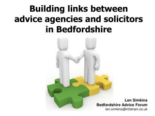 Building links between  advice agencies and solicitors in Bedfordshire