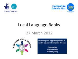Local Language Banks