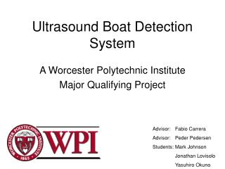 Ultrasound Boat Detection System