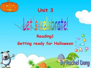 Reading1 Getting ready for Halloween
