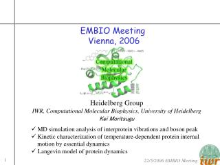 EMBIO Meeting  Vienna, 2006