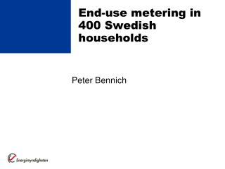 End-use metering in 400 Swedish households