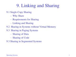 9. Linking and Sharing