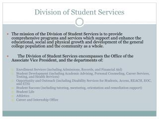 Division of Student Services