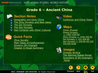 Grade 6 – Ancient China
