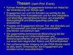 Thesen nach Prof. Evers: