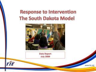 Response to Intervention The South Dakota Model