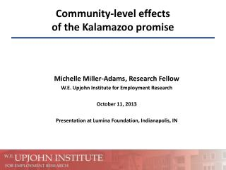 Community-level effects of the Kalamazoo promise