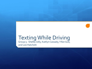 The banning of cell phone usage while driving