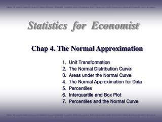 Chap 4. The Normal Approximation