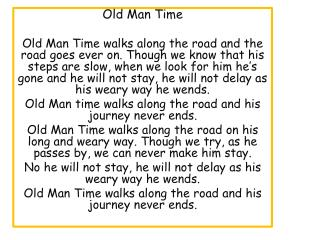 Old Man Time