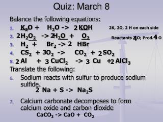 Quiz: March 8