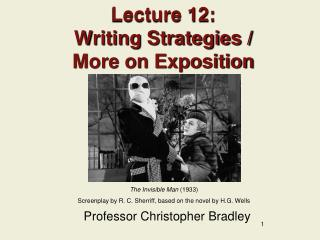 Lecture 12: Writing Strategies /  More on Exposition