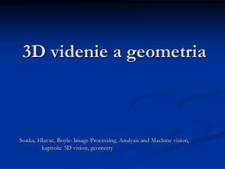 3D videnie a geometria