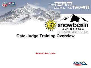 Gate Judge Training Overview