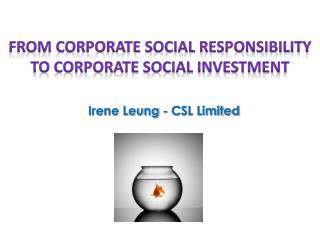 Irene Leung - CSL Limited