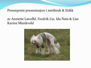 Powerpoint  presentasjon i nettbruk & Etikk