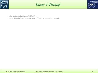 Linac 4 Timing